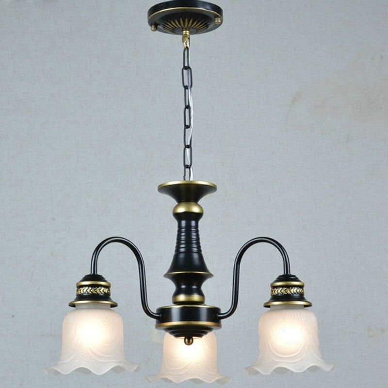 Evropská ANTIQUE Bronzový lustr s balkonem Jídelna Koridor Závěsná světla Studovna Kreativní Závěsné lampy