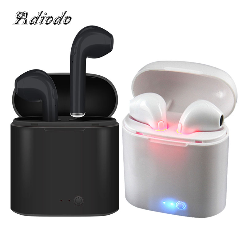 i7S Tws Wireless headset Bluetooth Earphone With Mic Stereo Earbuds Earphones Charging box for iPhone Smart Phone цена