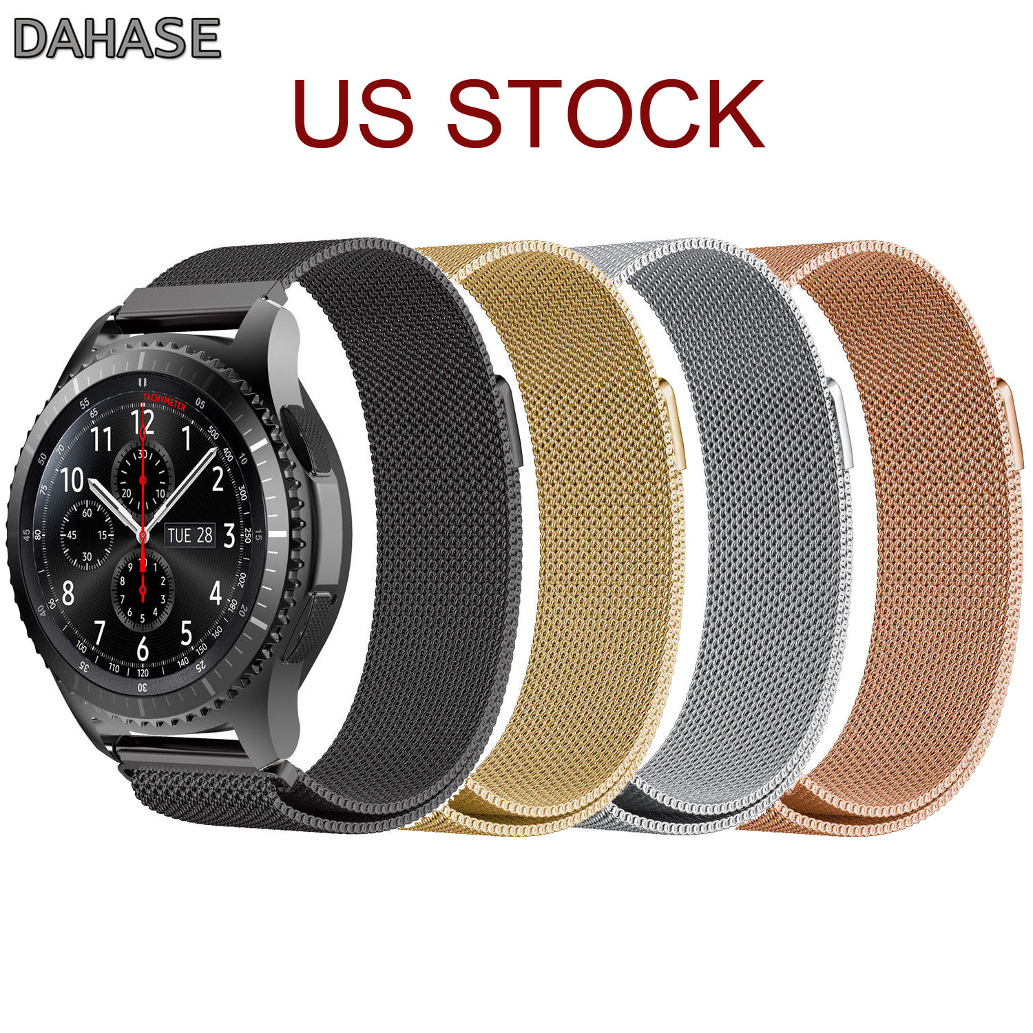 Magnetic Closure Bracelet for Gear S3 Classic Milanese Loop Strap for Samsung Gear S3 Frontier Stainless Steel Watch Band 22mm 2017 new stainless steel bracelet strap watch band milanese magnetic with connector adapter for samsung gear s2 watch band