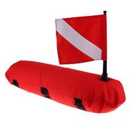 Inflatable Scuba Diving Spearfishing Signal Float Buoy + Dive Flag Banner 600D Nylon PU coating PVC