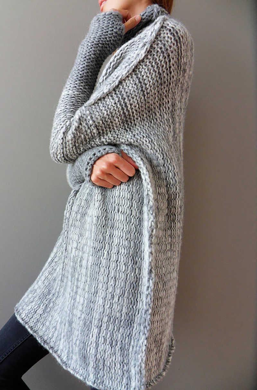 Fitshinling-chandails et pulls patchwork à col roulé pour femme, long pull en tricot pour dames, mode vintage, hiver, 2019