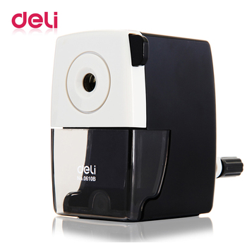 Deli 1PCS Pencil sharpener Stationery office School supplies mechanical 2 colors Accessories manual hand crank pencil sharpener deli stationery pencil sharpener office