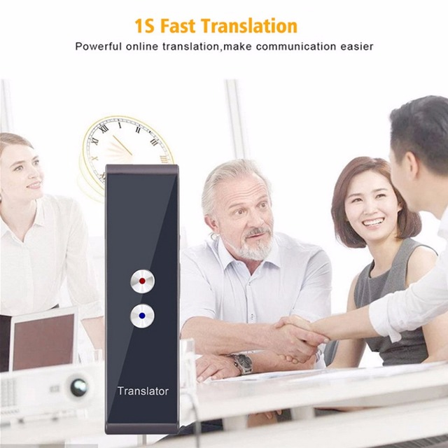 Bluetooth T8 Portable Voice Translator 41 Languages Two-Way Real Time Language Interpreter Wireless Travel Translation Machine
