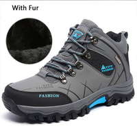 2018 men boots Hot selling winter men shoes military boots men comfortable plush shallow winter sneakers men work safety boot