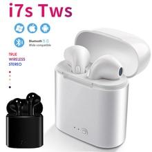 I7s TWS Bluetooth наушники стерео вкладыши Беспроводная Спортивная гарнитура с зарядным устройством микрофоном для xiaomi samsung huawei iphone