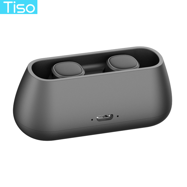 Tiso i4 TWS headphones 5.0 Bluetooth wireless earphones magnetic design built-in dual mic and 500mAh power bank charging box 4