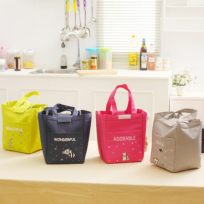Mrs win Excellent Quality Thermal Insulated Lunch Container Cooler Bag Tote Bento Pouch Lunch Container box bag Free shipping ...