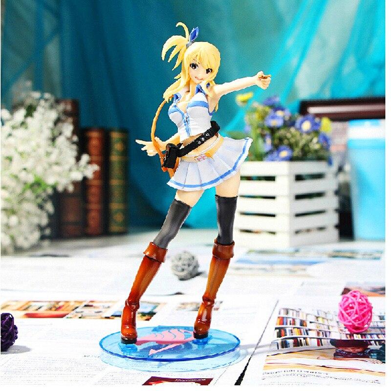 Japan Anime Fairy Tail Lucy Heartfilia Bianco gonna Figure Giocattoli Action Figure 26 cm PVC Modello Bambola Giocattolo con la Scatola scherza il Regalo