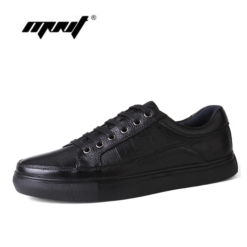 Top quality male casual shoes lace Breathable natural leather men flats shoes New fashion shoes men