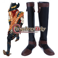 LOL West Cowboy Shoes Khada Jhin The Virtuoso Cosplay Boots Adult Men S Over Knee Cosplay