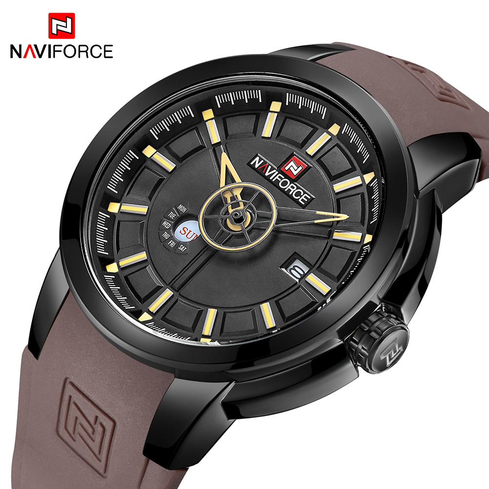 NAVIFORCE New Arrival Fashion Sport Watch Mens Silicone Waterproof Quartz Wrist Watches Men Military Clock Relogio MasculinoNAVIFORCE New Arrival Fashion Sport Watch Mens Silicone Waterproof Quartz Wrist Watches Men Military Clock Relogio Masculino