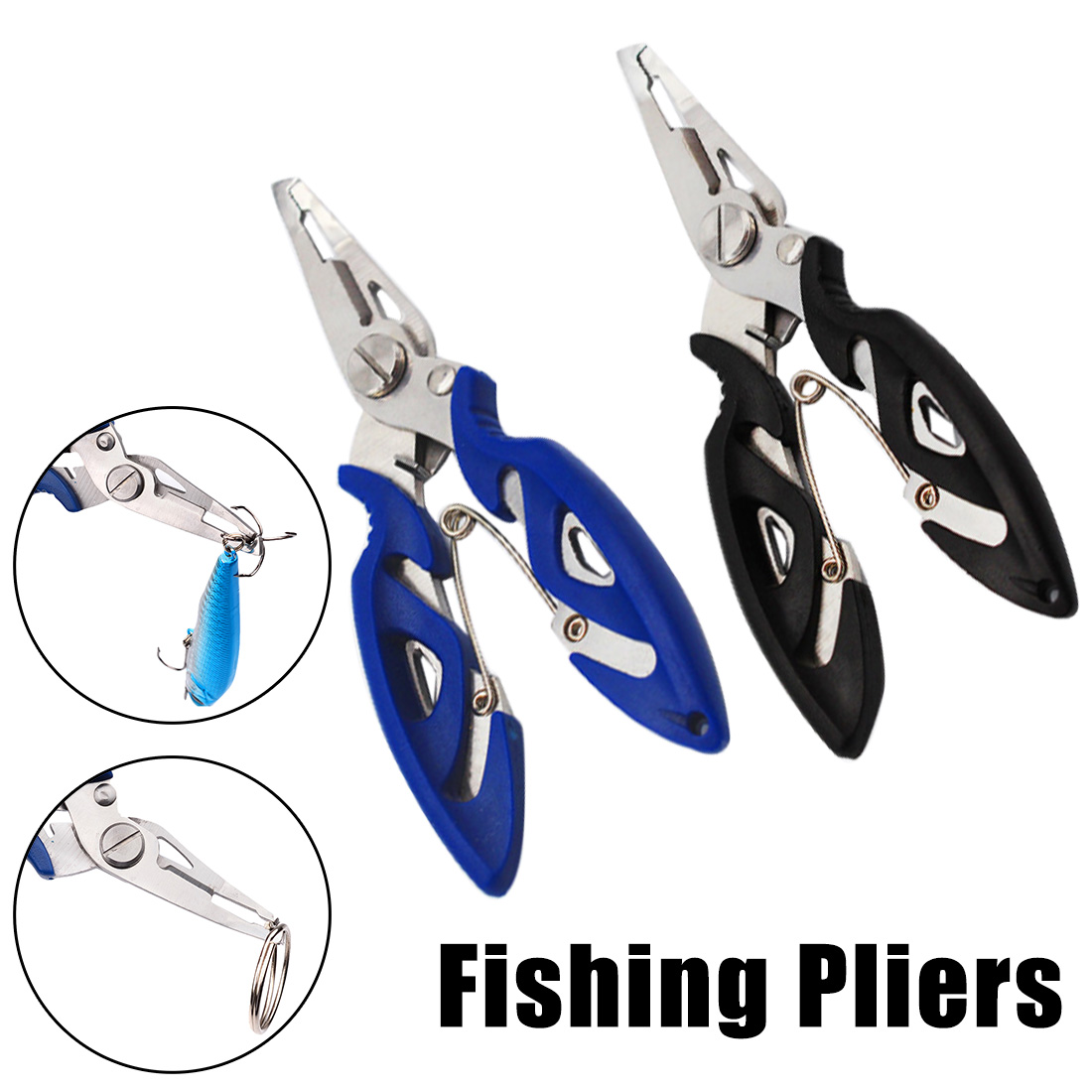 Pro Fishing Multifunctional Plier Fishing Lanyards Boating Ropes Kayak Camping Secure Pliers Lip Grips Tackle Fish Tools