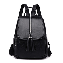 Women Backpack Purse PU Leather Simple Design Casual Daypack Fashion School Waterproof Shoulder Bags Anti-Theft Ladies Rucksack