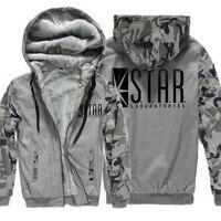 Men S Sportswear Harajuku 2017 Warm Winter Fleece Sweatshirts Men Hoody Print STAR S T A