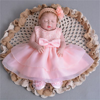 55cm Full Silicone Body Reborn Baby sleeping Doll Toy Like Real 22inch lifelike real looking Babies Doll Bathe birthday presents