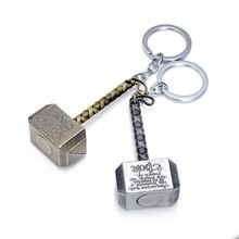 1pcs Good Quality Delicate Quake Avengers Thor Hammer Keychain With Action Figure Gifts Personalized Key Chain Toys