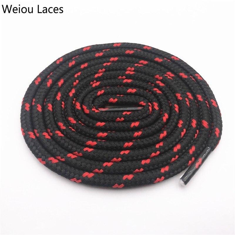 Coolstring 0,45 см уличные унисекс повседневные круглые полосатые спортивные шнурки с точками шнурки для Dorky Dad обувь шнурки - Цвет: 2542Black-Red