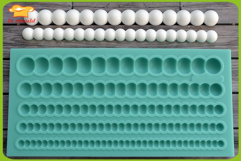 LXYY Molds pearl silicone mold cake decoration crafts fondant mold cake decoration mold edge