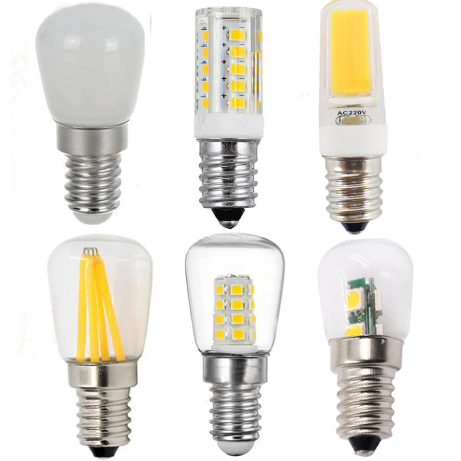 <font><b>E14</b></font> <font><b>LED</b></font> COB Bulb 220V 240V Corn Bulb Chandelier Candle <font><b>LED</b></font> Light Capsule Bulbs Replace Halogen <font><b>Lamp</b></font> Fridge Freezer Home Lighting image