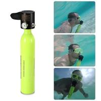 0.5L Scuba Oxygen Cylinder Diving Air Tank Scuba Regulator Diving Respirator with Gauge Snorkeling Breathing Equipment