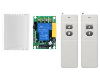 bfb4125f910 220 V interruptor de control remoto inalámbrico relé inteligente 433 Mhz  remoto AC220V 30A interruptor de rf código aprendizaje control remoto  interruptor