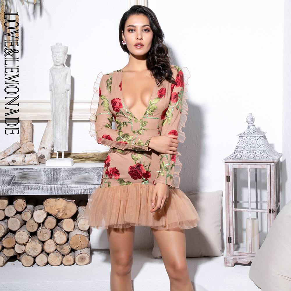 Love&Lemonade Mesh Embroidery Dress LM816821