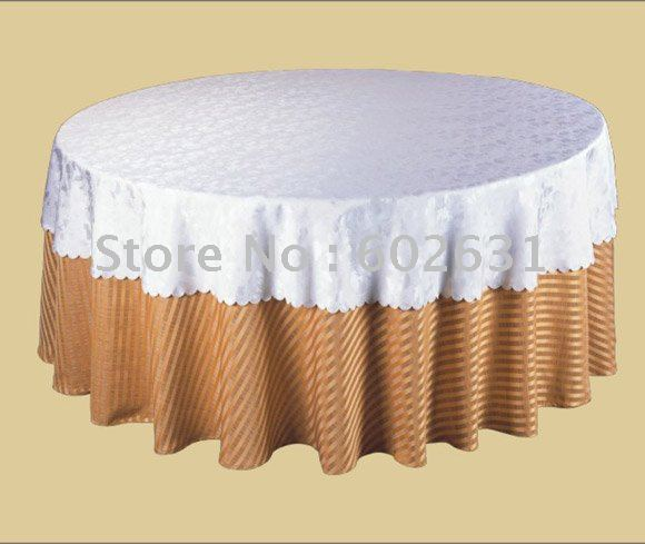 STC029,Table Cloth For Folding Tables,White Tab Top Layer,Brown Bottom Layer