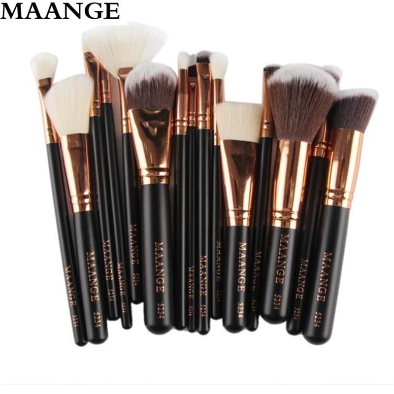Brand 15Pcs Set Professional Makeup Brush Foundation Concealer Eye Shadows Powder Make Up Brushes Tools Cosmetic maquiage professional eye brush 15pcs