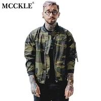 MCCKLE 2017 Herfst camouflage jas Mannelijke dunne Bomber Jassen mannen Geborduurde Rits Militaire Legergroen Camo Baseball Jacket