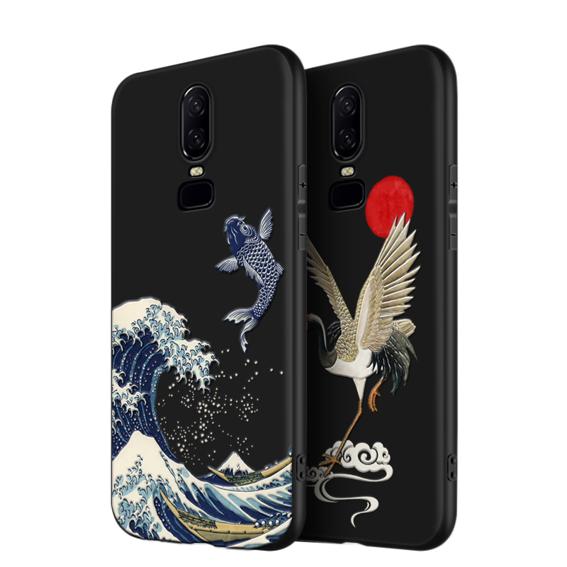 for Oneplus <font><b>6</b></font> <font><b>Case</b></font> <font><b>6</b></font>.28'' for Oneplus <font><b>One</b></font> <font><b>Plus</b></font> <font><b>6</b></font> Cover 3D Relief Matte Soft 360 Full Cover LICOERS <font><b>Official</b></font> <font><b>Case</b></font> Oneplus6 1+<font><b>6</b></font> image