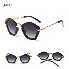 JAXIN Fashion five-pointed star Sunglasses Kids cute personality Sun Glasses Girl cool polygon Boy UV400 Baby favorite