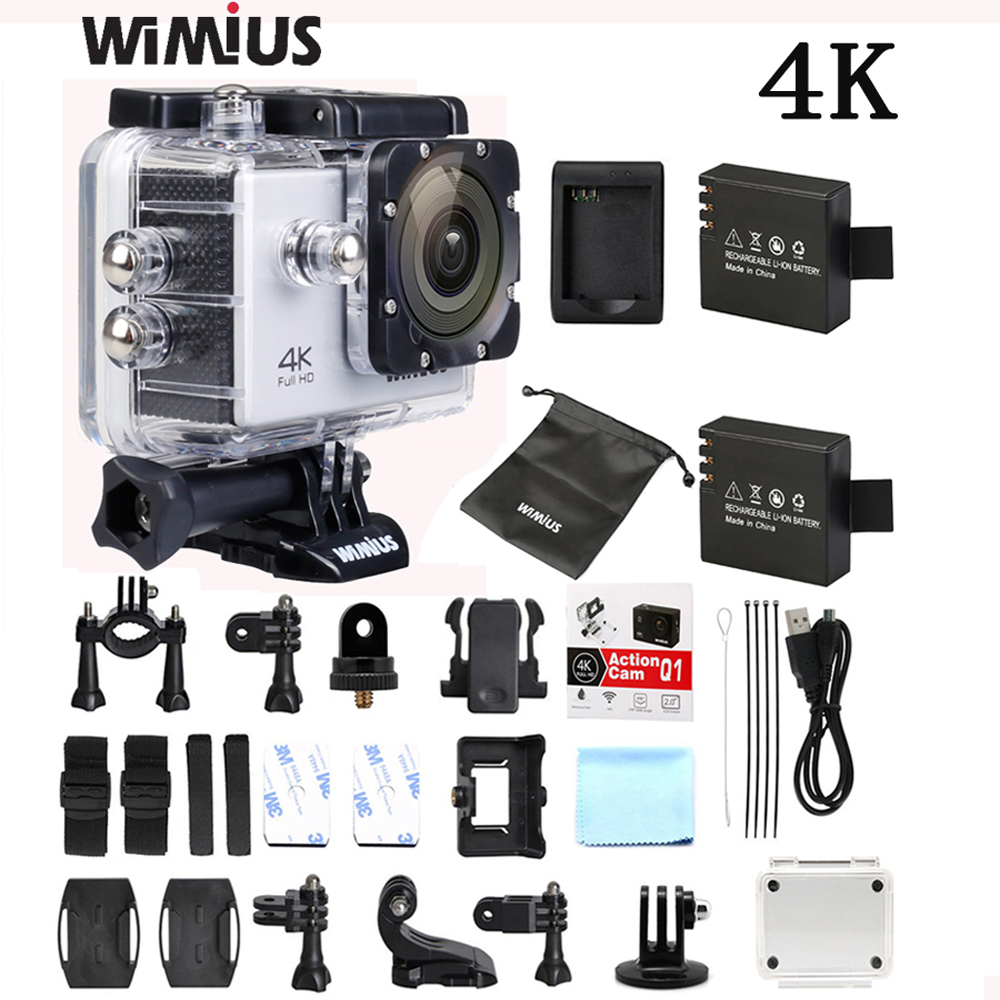 "Wimius Action camera 4K 1080P Wifi Sports HD Camara 2.0"" Mini Video Wide Angl Helmet Cam Car DVR for Outdoor Go Waterproof pro"