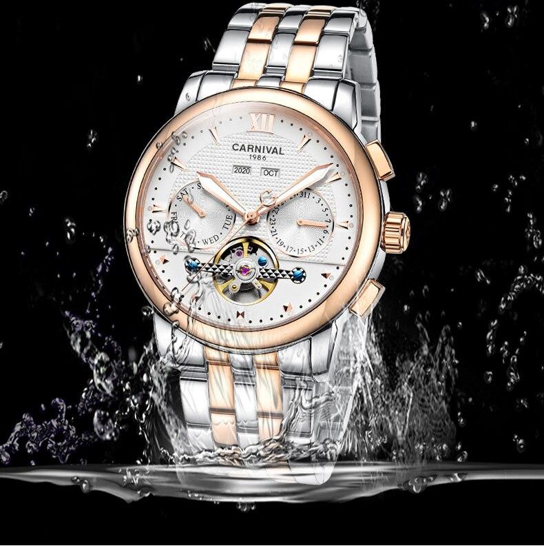 relógio luminoso à prova dwaterproof água safira