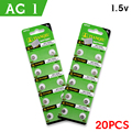 20Pcs/2card Ag1 Button Cell Batteries High Capacity SR621 164 LR621 364 Lithium Batteries Size 6.8*2.1mm For /Digital Cameras
