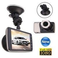 4 بوصة كامل hd 1080 وعاء سيارة dvr عدسة مزدوجة كاميرا فيديو ومسجلات كاميرا عكس مواقف مراقبة للرؤية الليلية داش كام