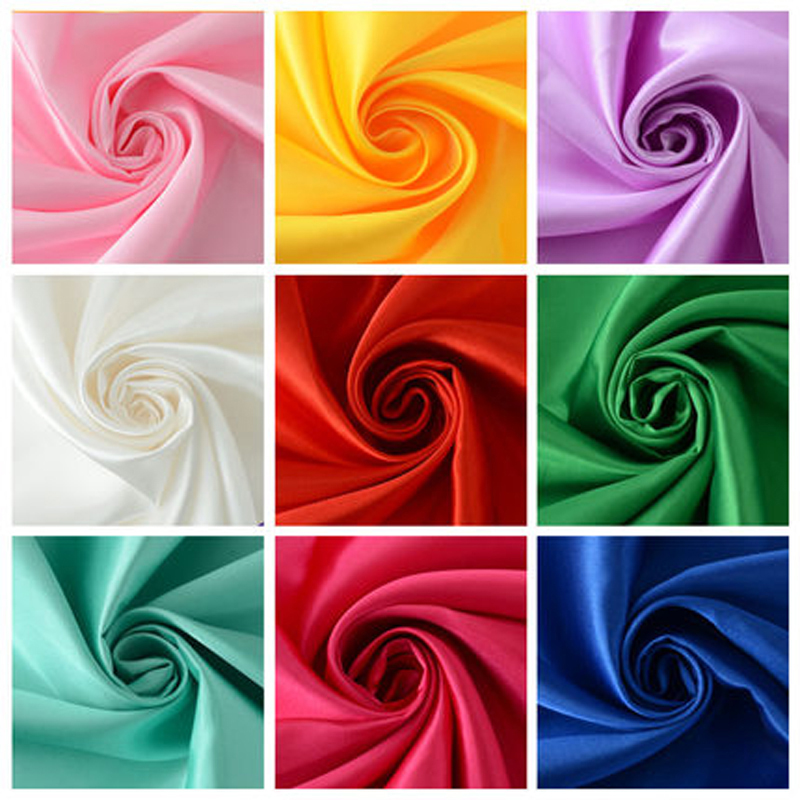 Free Shopping 3m/lot 1.5m Width High Quality Silk Satin Fabric Wedding Party Decoration Summer Clothing DIY Curtain Dress Gifts