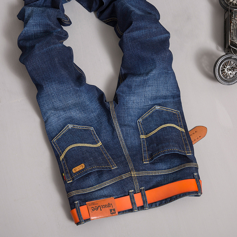 Lgnacelee men s jeans straight tube youth autumn and winter stretch pants pants 835
