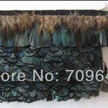 10 ярдов/партия Высота 5-6 см Алмазный фазан пера фазан-пера натуральный голубой цвет