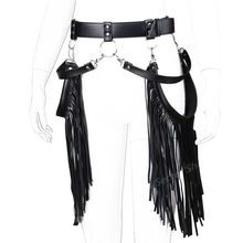 Handmade Adjustable Sexy Harness Belt Weave Round With Tassels Leather Body Bondage Skirts Chain Dress Bdsm Women