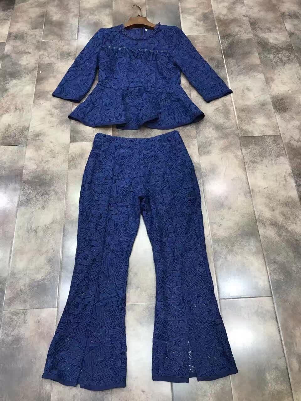 Limited Cotton Silk Zipper Tracksuits 2017 Spring New font b Women s b font Lace font