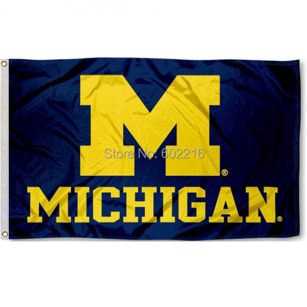 University of Michigan Baseball College Large Outdoor Flag