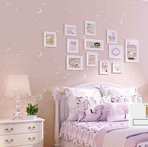 3d Luminous Stars And The Moon For Boys Girls Bedroom Wallpaper For Walls Starry Themed Wall Papers Home Decor For Kids Room Wallpaper Moon Wallpaper Starspaper Moon Stars Aliexpress