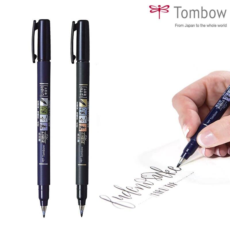 1pc Tombow Fudenosuke Brush Pen Soft And Hard Tip Art