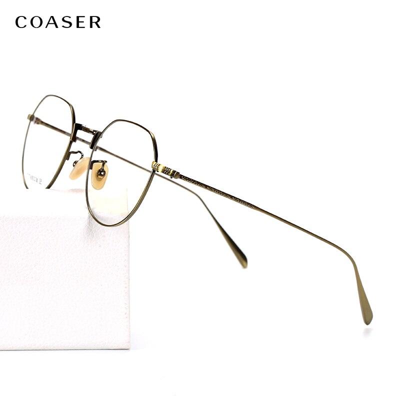 Lunettes en titane à la mode femmes 2019 lunettes de Prescription ultra-légères hommes lunettes de vue de chat myopie montures optiques