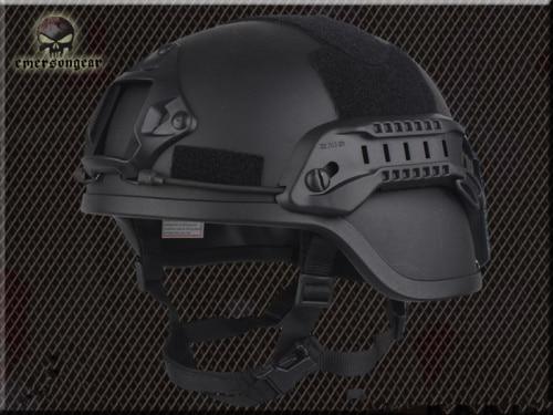 Тактический Велоспорт CS пневматический пистолет спортивный шлем EMERSON ACH MICH 2000 специальное издание шлем EM8978 8 цветов - Цвет: BLACK