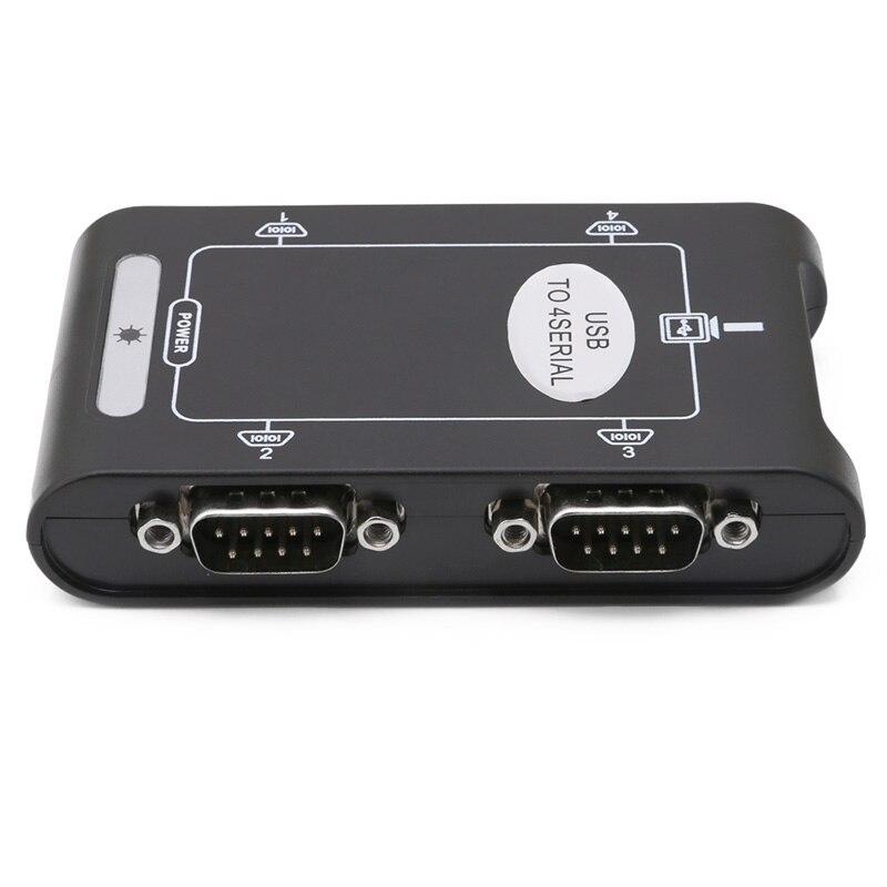 9pin RS232 USB 2,0 до 4 портов Серийный DB9 COM разъемы контроллера адаптер концентратор