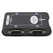9pin RS232 USB 2.0 do 4 porty szeregowe DB9 COM kontroler złącza adapter rozdzielacz