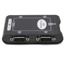 Conector adaptador de 9 pines RS232 USB 2,0 a 4 puertos serie DB9 COM conectores de controlador Hub