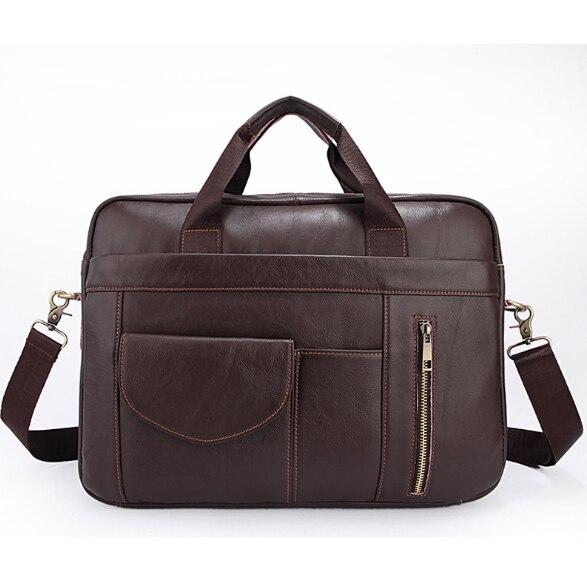 Men's Business Briefcase Cow Leather Men's Bags Casual Men's Messenger Bags