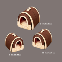 1Pcs Multifuctional goods for pets dog cat Travel Pet Bed Bag Product Tent for animals Brown bed house For Small Medium Dogs